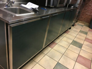 Storage Cabinets with and without Sink / Commercial Microwave