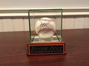 Hunter Pence Autographed Baseball with Case. JSA authentication