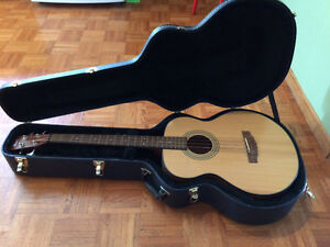 Cort SJB3 Acoustic Electric Bass w/ case