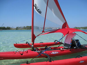 Hobie Islander Main Sail Only -- Hibiscus Red