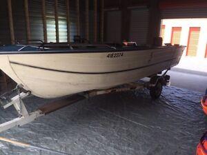 Boat motor trailer combo