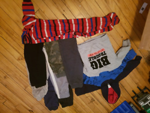 Boys clothing sizes range from 12m-24m