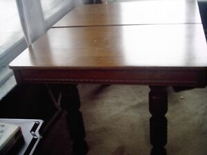 ANTIQUE TABLE WITH LARGE SPINDLED LEGS-DRASTICALLY REDUCED