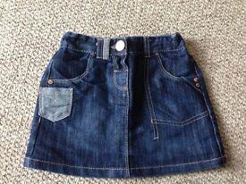 Next denim skirt age 2-3 yrs