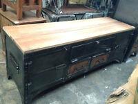 Meuble télé acier bois Indonésie/steel wood TV cabinet Indonesia