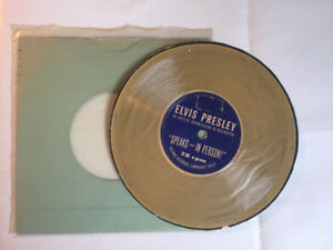 ELVIS PRESLEY SPEAKS IN PERSON 78 RPM PAPER RECORD VG+