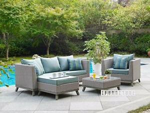 Blow Out Sale --VALENCIA 4 PCS Patio Sofa Set * Aluminum frame