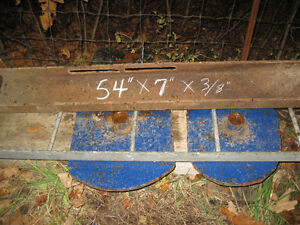 channel 54'' by 7 inches and 3/8'' thick and 3/4'' thick plates