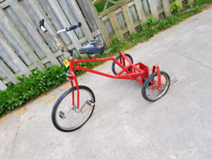 Custom built tricycle. Check pixtures. Needs new tubes