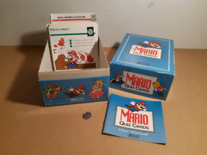 Mario bros quiz cards Nintendo