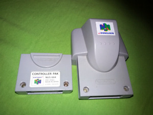 For sale Nintendo 64 controller pack &rumble pack. Two for $25