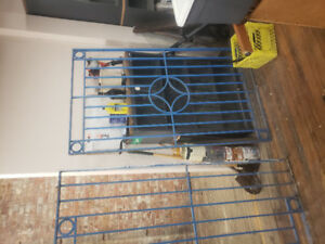 Heavy duty solid security gates