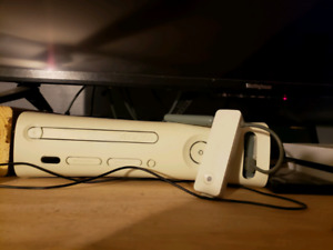 Xbox 360 with Xkey and 1 black controller