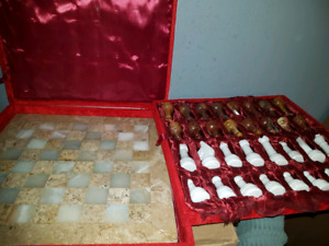 Stone Chess & Backgammon sets