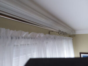 Shears curtains plus  rods and brackets
