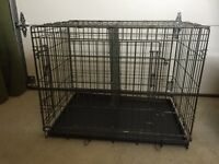 Medium size dog crate with divider