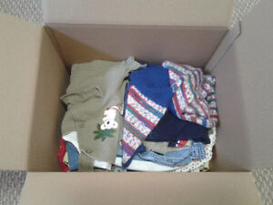 BOX of baby BOY clothes - 6-12 months