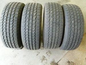 4 USED COOPER WEATHERMASTER WINTER TIRES SIZE 205/60/16