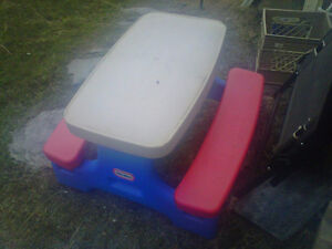 lil tikes table  up to 4 years old