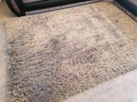 Grey cozy shimmer rug