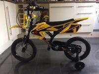 """Child's 14"""" avigo moto bike"""