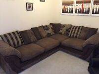 Corner Sofa with matching Armchair and Footstool