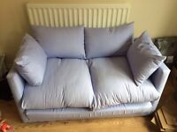 Lilac 2 seater sofa bed EX2
