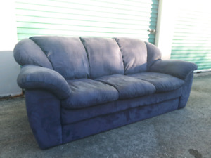 Blue Micro Suede Sofa **Delivery Included