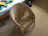Lovely wicker child's chair