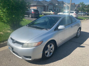 2007 Honda Civic 2DR, Manual - ONE OWNER, LOW KM