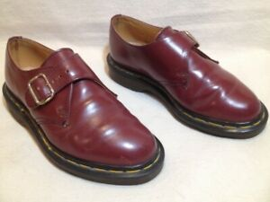 Ladies Doc Martens Red Leather  Single Strap Shoes Size 6M
