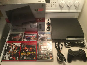 Ps3 Slim de 320gig-dualshock 3-GTA IV-Metal Gear etc..-140$