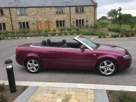 AUDI A4 3,0 AUTO CABRIOLET SPORT ONE OWNER WITH SERVICE HISTORY