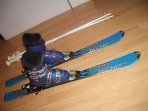 """Skis  """" TechnoPro """"  110 cm  +   boots  for  size 5 - 6 US"""
