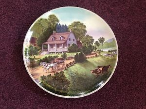 Currier & Ives Plate