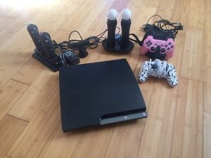 Ps3 with 3 controllers and 19 games