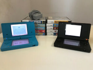 Used Nintendo DSi and DS Lite + 10 games