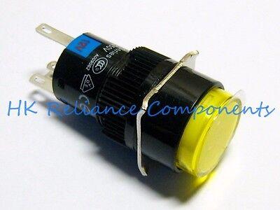 Button Push Switch Latch Onoff Dc24v 1a Ac220v 3a Led 12v Yellow Vde