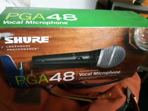 Shure PGA48 voice microphone + 25 for XLR mic cable included