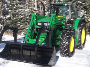 2017 John Deere 6120m with New loader and grapple bucket