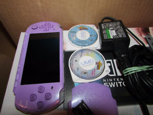Purple Limited Edition PSP 3000 with games