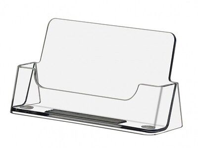 Qty 1000 Business Card Display Stand Holders Wholesale Made Usa Clear Plastic