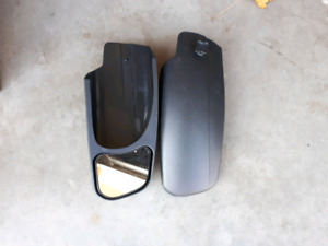 Truck extension mirrors for pulling RV