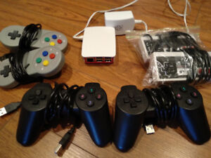 2x NES and 2x Playstation USB Controllers