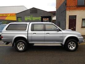 Finance Available & NO VAT! Low Mileage Mitsubishi L200 Trojan crewcab pickup 4