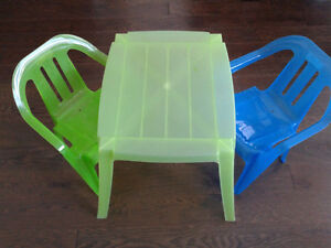Children's Play Table and Two Chairs