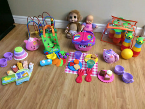 Lot of girl toys