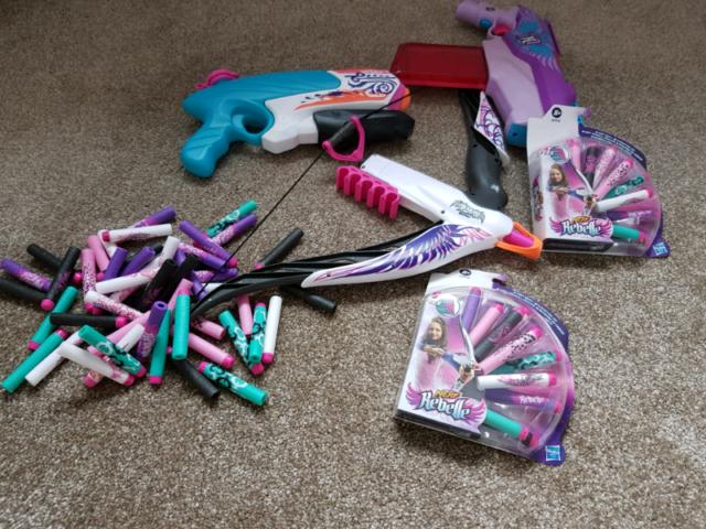 Girls nerf gun, crossbow and waterpistol + 2 packs unopened darts + mo | in  Bedlington, Northumberland | Gumtree