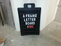 A-Frame Letter Board - Dual Sided