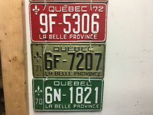 Plaques immatriculation ancienne